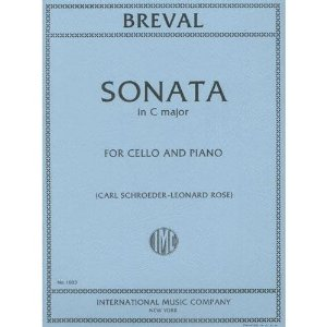 Breval, Jean Baptiste - Sonata In C Major for Cello and Piano - by Schoreder/Rose - International